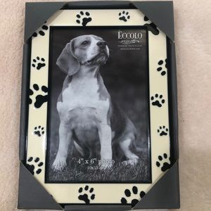 Eccolo 4 x 6 Ceramic PawPrint Vertical Photo Frame